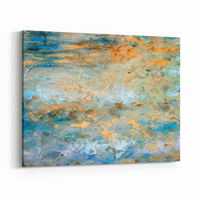 Abstract Art Background Oil Painting On Canvas