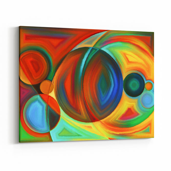 Plane Division Series Interplay Of Abstract Forms And Shape On The Subject Of Art, Painting, Design And Education Canvas Wall Art Print