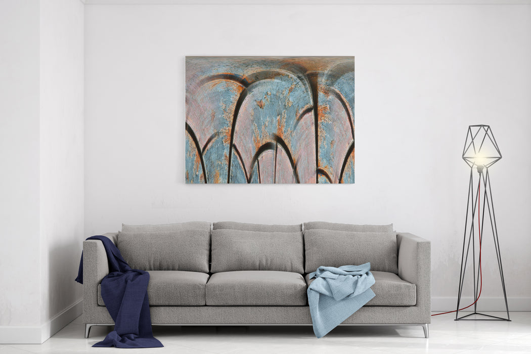 Abstract Painted Canvas Multicolor Background Canvas Wall Art Print