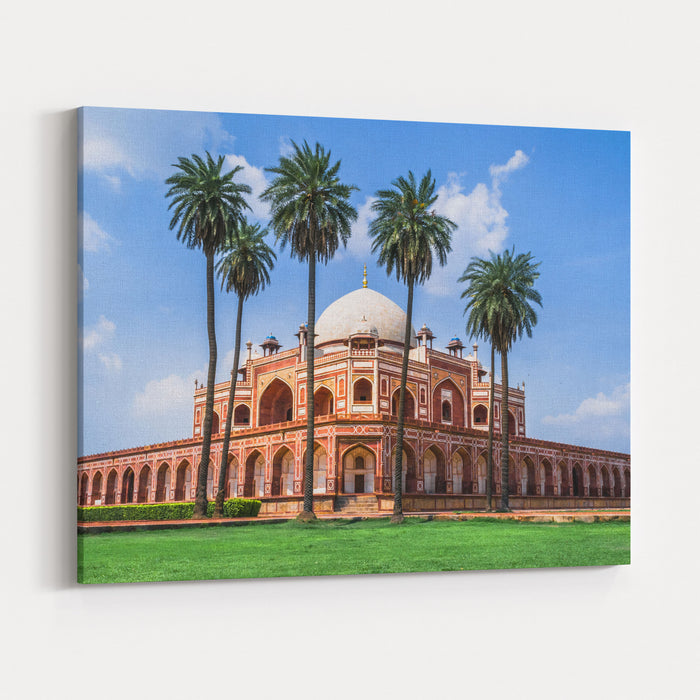 Beautiful View Of Humayuns Tomb,  UNESCO World Heritage Site, Delhi Canvas Wall Art Print