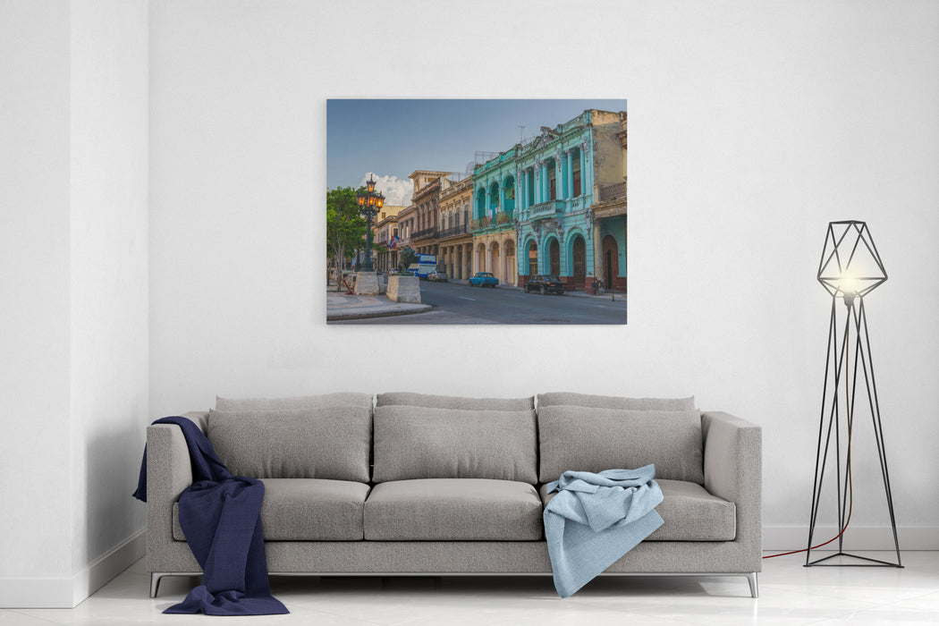 The Streets And Architecture Of Old Havana In Cuba Canvas Wall Art ...