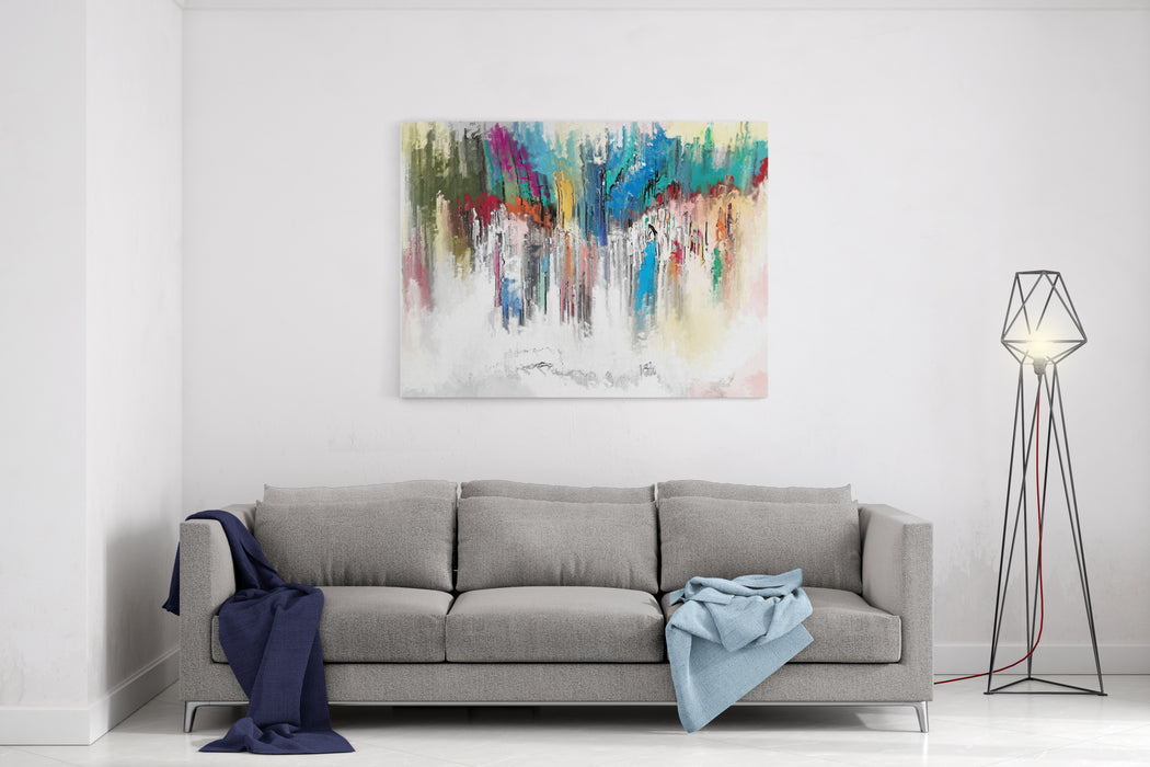 Abstract Painting Texture For Background Canvas Wall Art Print