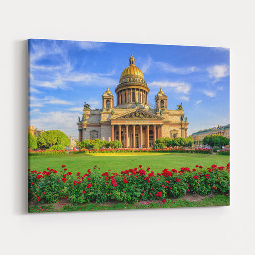 St Isaac Cathedral In Saint Petersburg, Russia, Is The Biggest Christian Orthodox Church In The World Canvas Wall Art Print