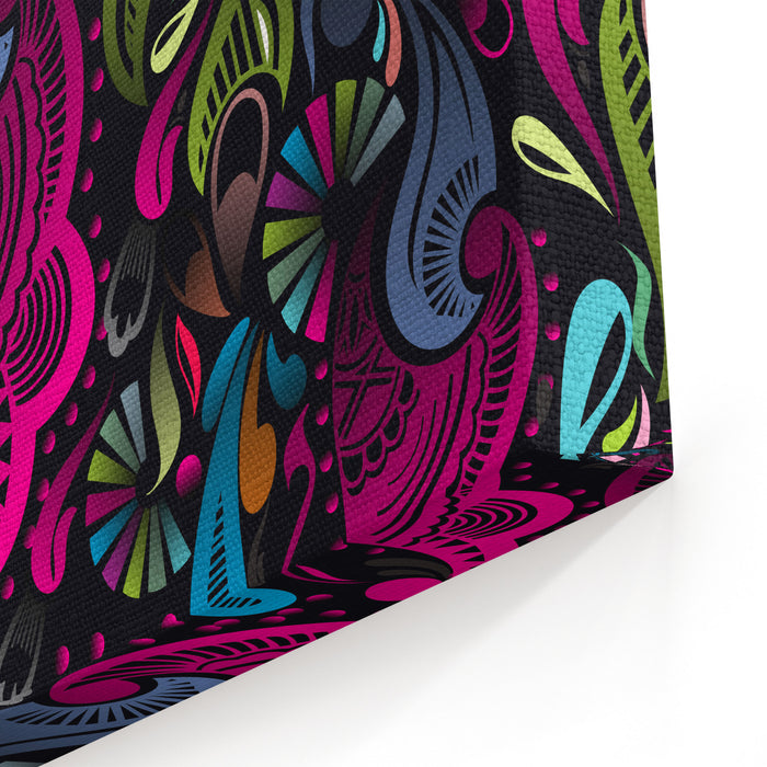 Abstract Floral Pattern, Highly Detailed Seamless Design, Vector Illustration Canvas Wall Art Print