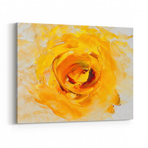 Art OilPainting Picture Fantasy Yellow Flower Abstract Oil PaintingBackground Oil On Canvas Texture Hand Painted Modern Art Canvas Wall Art Print