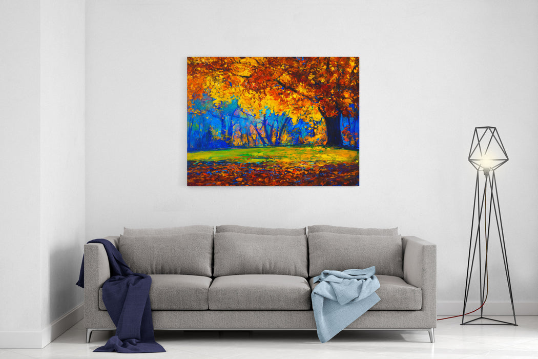 Original Oil Painting On Canvasautumn Landscapemodern Impressionism Canvas Wall Art Print