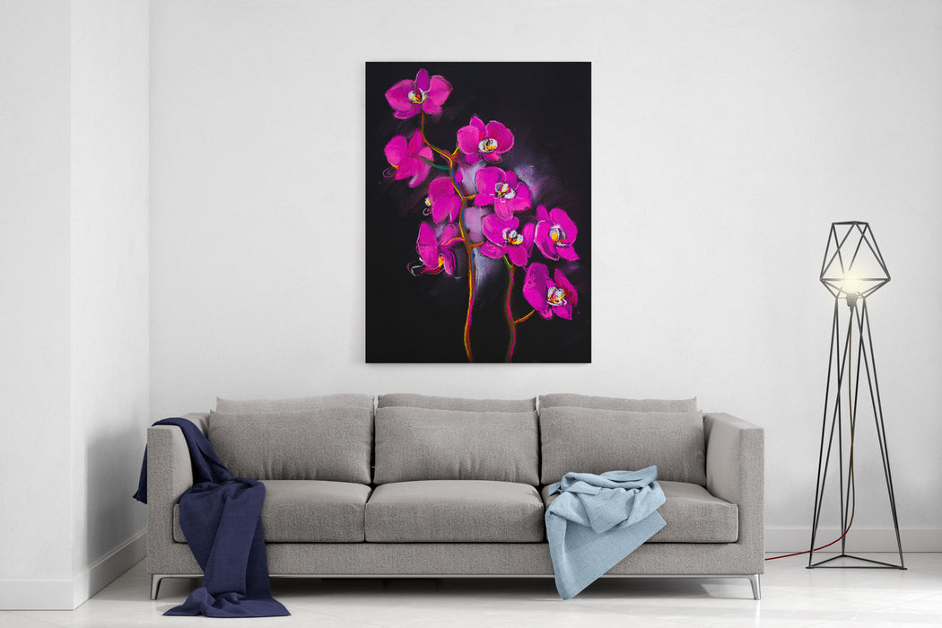 Original Oil Painting On Canvas Colorful Poppies Painting Modern Impressionism Canvas Wall Art Print