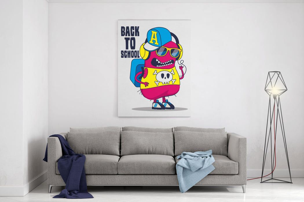 Cute Monster Vector Design Canvas Wall Art Print