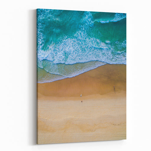 Surfing Aerial Canvas Wall Art Print