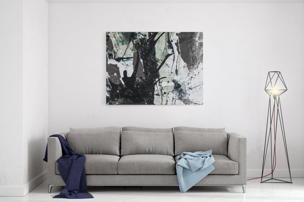 Creative Abstract Hand Painted Background, Wallpaper, Texture, Acrylic Painting On Canvas With Brush Strokes Modern Art Contemporary Art Canvas Wall Art Print