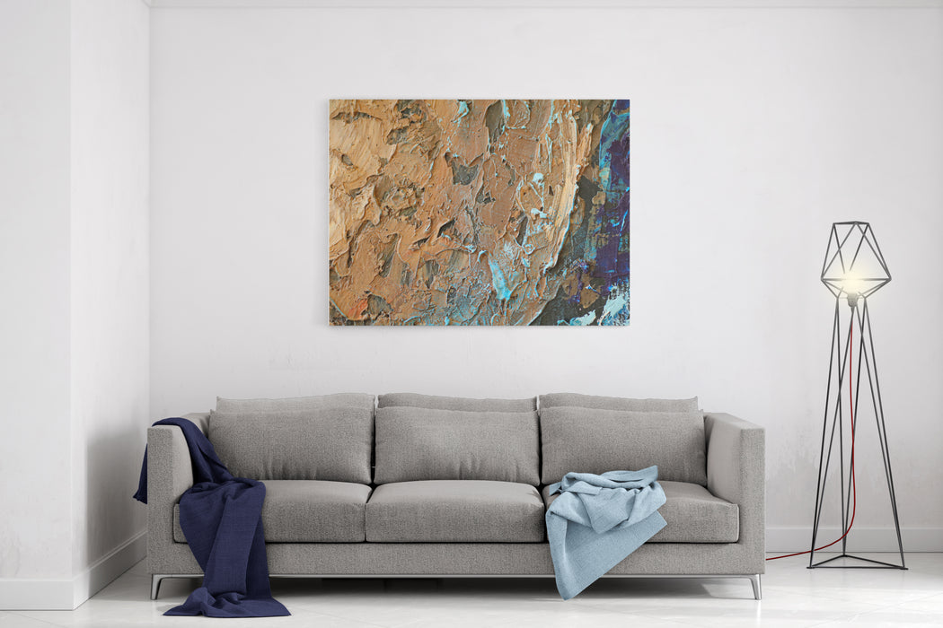 Oil Painting Texture Abstract Water Ground Canvas Wall Art Print
