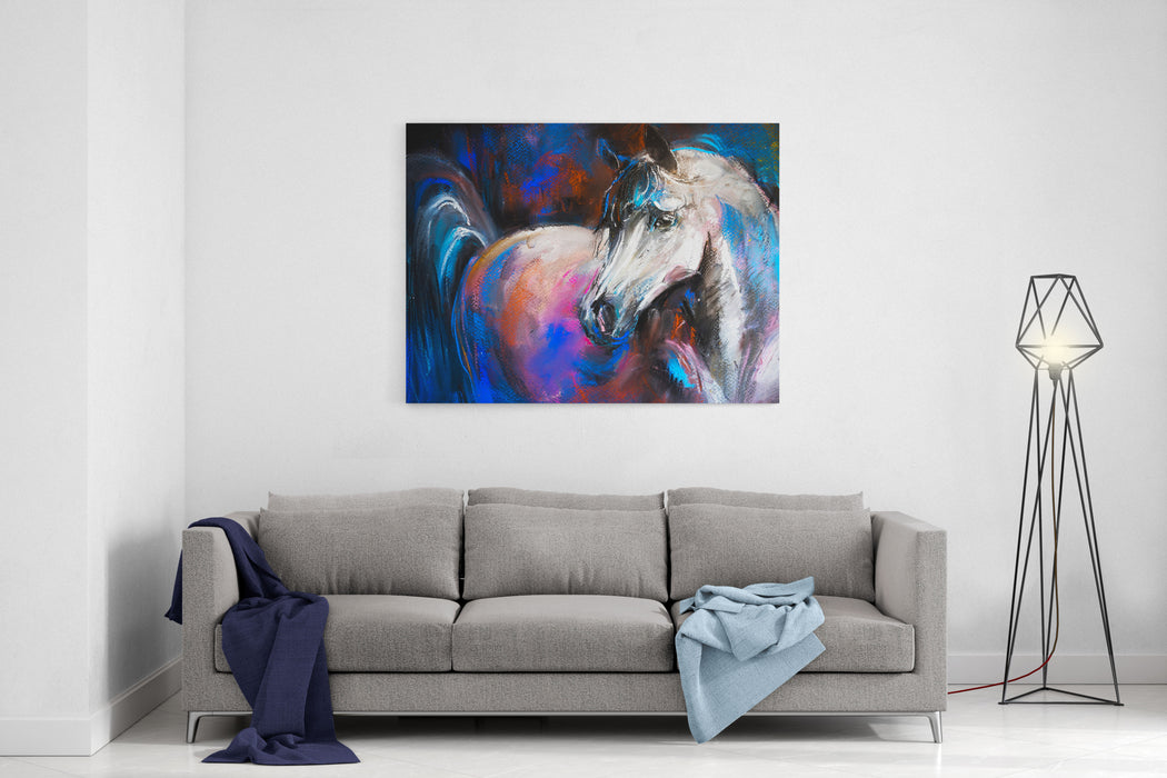 Pastel Painting On A Cardboard Canvas Wall Art Print