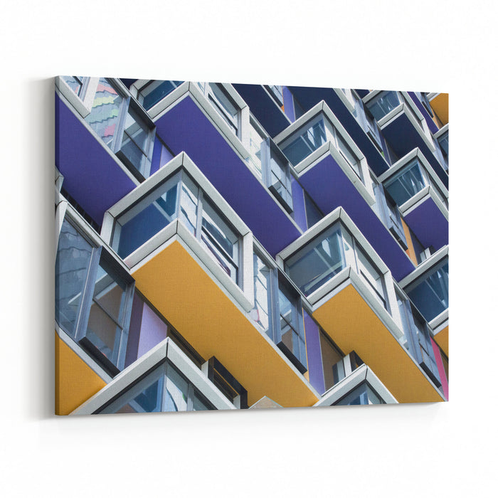 Colourful Architecture Detail Canvas Wall Art Print