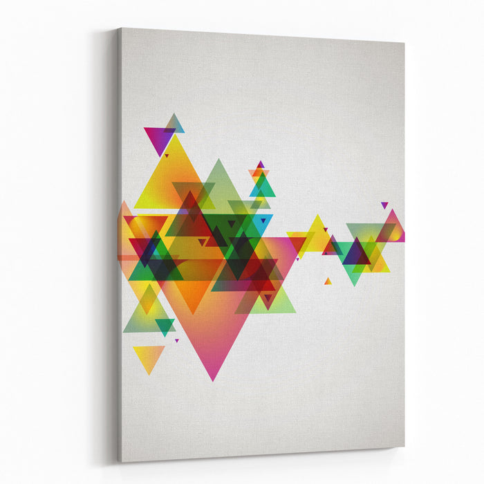 Abstract Colored Background Canvas Wall Art Print