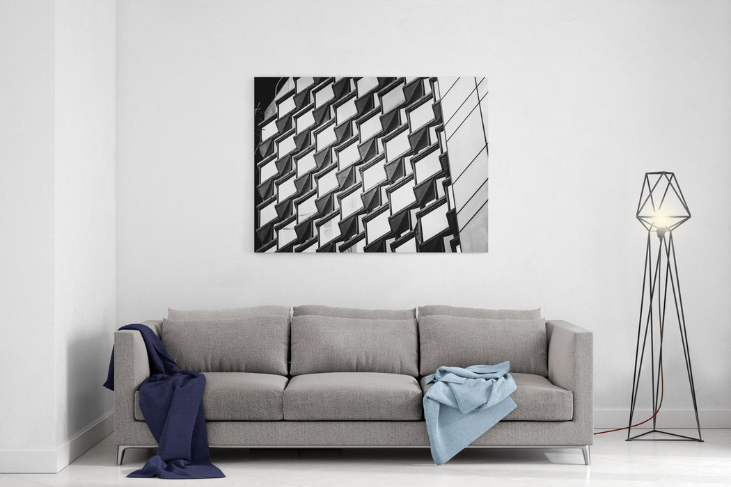 Black And White Images Of Commercial Buildings Canvas Wall Art Print ...