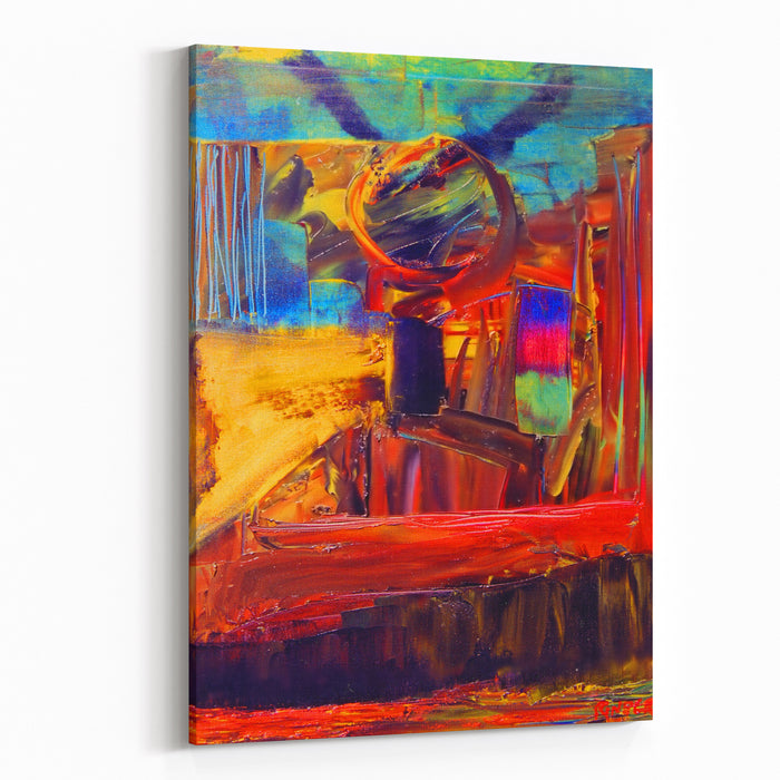 Nice Image Of An Original Abstract Painting On Canvas Canvas Wall Art Print