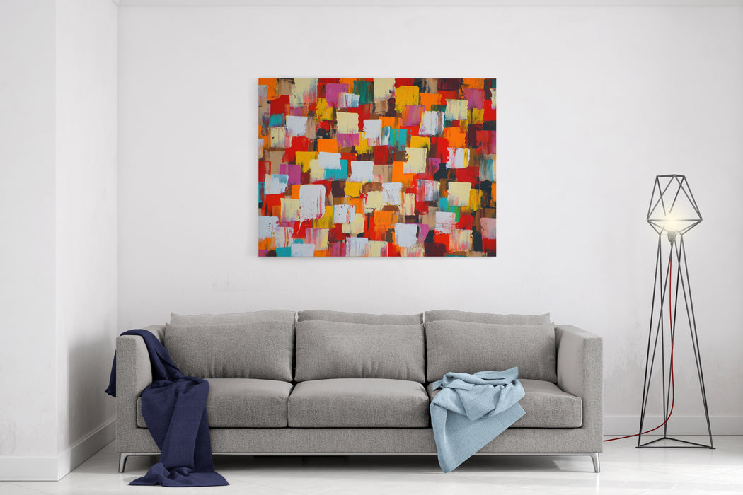 Abstract Psychedelic Background Canvas Wall Art Print