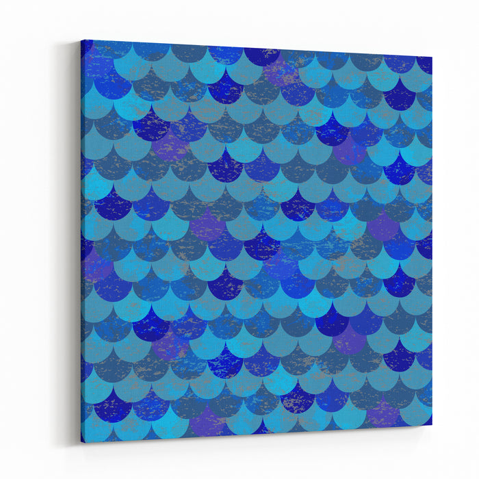 Animal Print Fish Scales Animal Pattern Canvas Wall Art Print