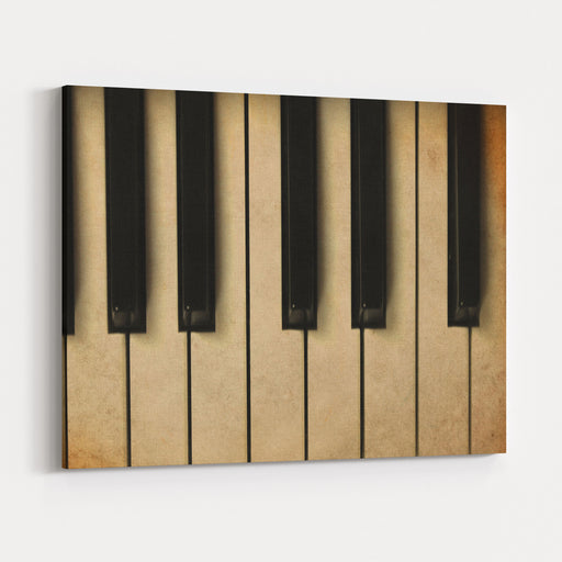 Old Piano Vintage Background Canvas Wall Art Print