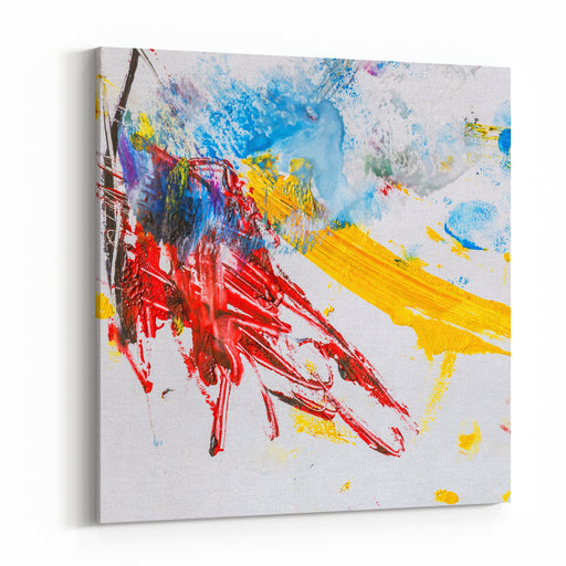 Abstract Painting As A Background Colorful Background Canvas Wall Art Print