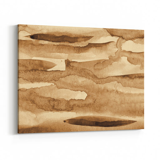 Abstract Watercolor On Paper Texture Can Use As Background In Sepia Toned Retro Style Canvas Wall Art Print