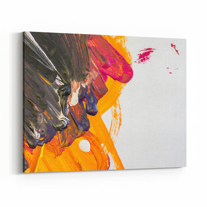 Abstract Gouache Painting On White Paper As A Background Canvas Wall Art Print