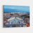 Aerial View On Rome, Italy Evening Selective Focus Canvas Wall Art Print