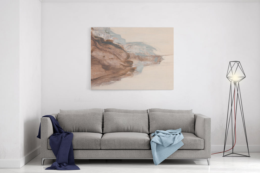 Abstract Art Background Oil On Canvas Warm Colors Soft Brushstrokes Of Paint Modern Art Contemporary Art Canvas Wall Art Print