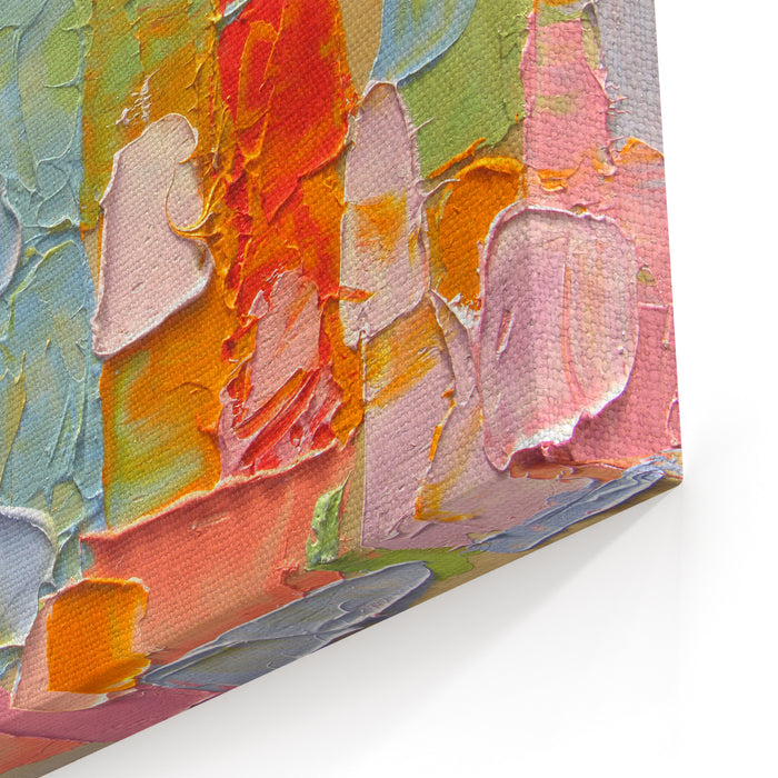 Colorful Background Painting Fragment Oil Paint Palette Knife Can Be Used For Web Design Art Print Textured Fonts Figures Shapes Etc Canvas Wall