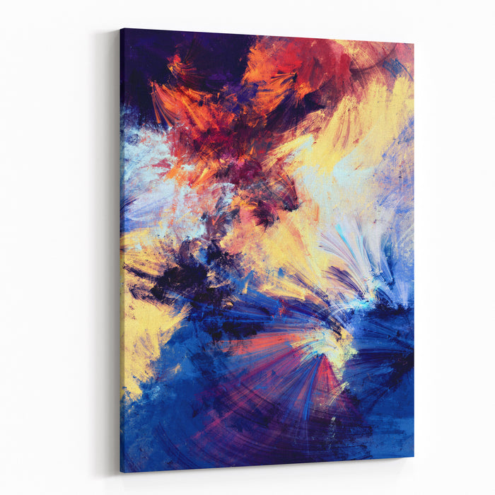 Bright Color Fireworks Abstract Painting Color Texture Artistic Motion Holiday Background Modern Multicolor Futuristic Dynamic Pattern Fractal Artwork For Creative Graphic Design Canvas Wall Art Print
