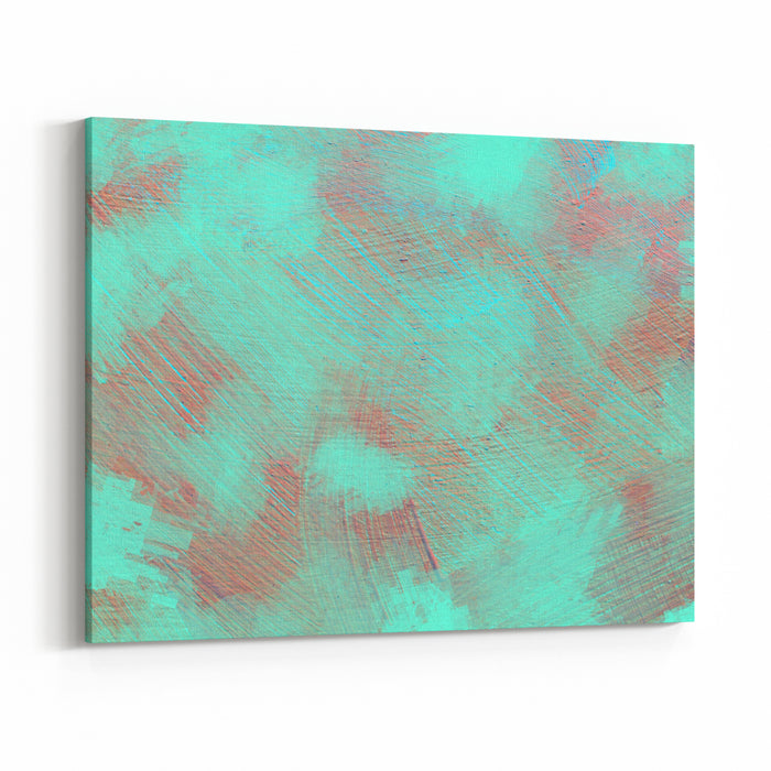 Vivid  Painting Closeup Texture Background With  Blue Gray White Colors Vibrant Colorful Creative Pattern Dynamic Canvas Wall Art Print