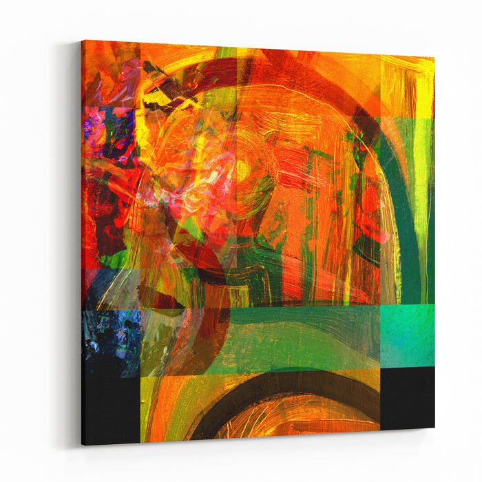 Very Nice Image Of An Original Large Scale Abstract Painting In Canvas Canvas Wall Art Print