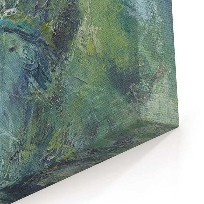 Original Abstract Painting In Cool Blues And Greens With Plenty Of Texture And Movement Makes Good Background Painted By The Photographer Canvas Wall Art Print