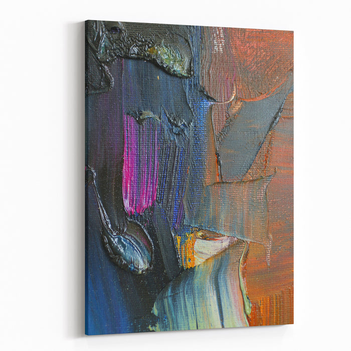 Texture Oil Painting Texture Of Brush Strokes Vivid Bright Colors Painting Abstract Painting Canvas Wall Art Print