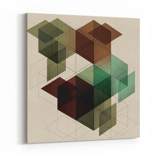 Geometric Cube Background Eps With Transparency Canvas Wall Art Print