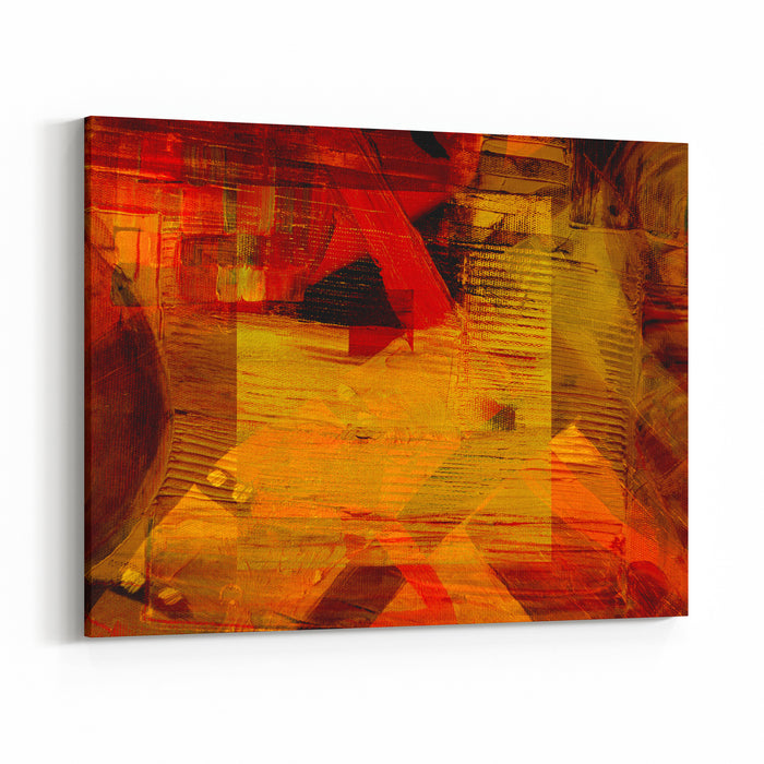 Nice Image Of A Large Scale Abstract Oil On Canvas Canvas Wall Art Print