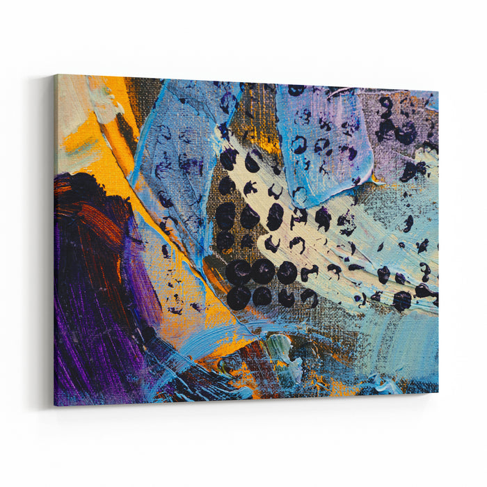 Abstract Art Background Oil Painting On Canvas Color Texture Canvas Wall Art Print