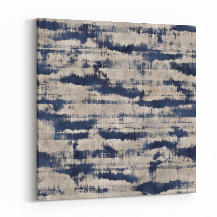 Abstract Stains And Stripes Distressed Background Seamless Pattern Canvas Wall Art Print