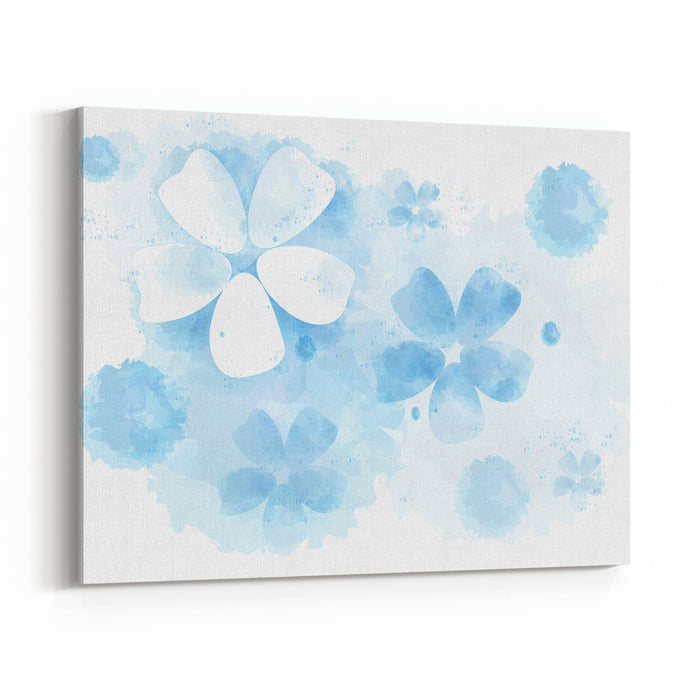 Watercolor Abstract Background Flowers Canvas Wall Art Print