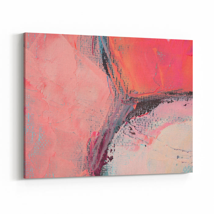 Artists Oil Paints Multicolored Closeup Abstract Background Canvas Wall Art Print