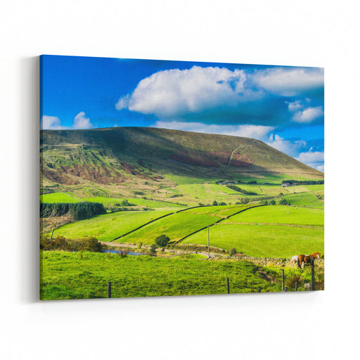 Scenic View On Pendle Hill On Summer Forest Of Bowland , Lancashire, England UK Canvas Wall Art Print
