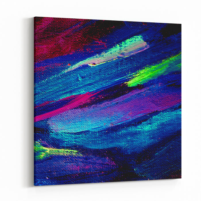 Abstract  Painting Oil On Canvas,  Illustration, Background Canvas Wall Art Print