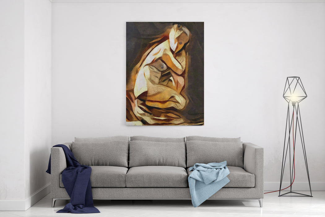 Abstract Surreal Images Of Ancient Sculptures Of The Middle Ages Authors Performance With Oil On Canvas With Elements Of Pastels Suitable For Interior And Gift Canvas Wall Art Print