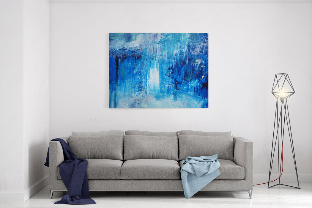 Detail Of  Artistic Abstract Oil Painted Background Canvas Wall Art Print