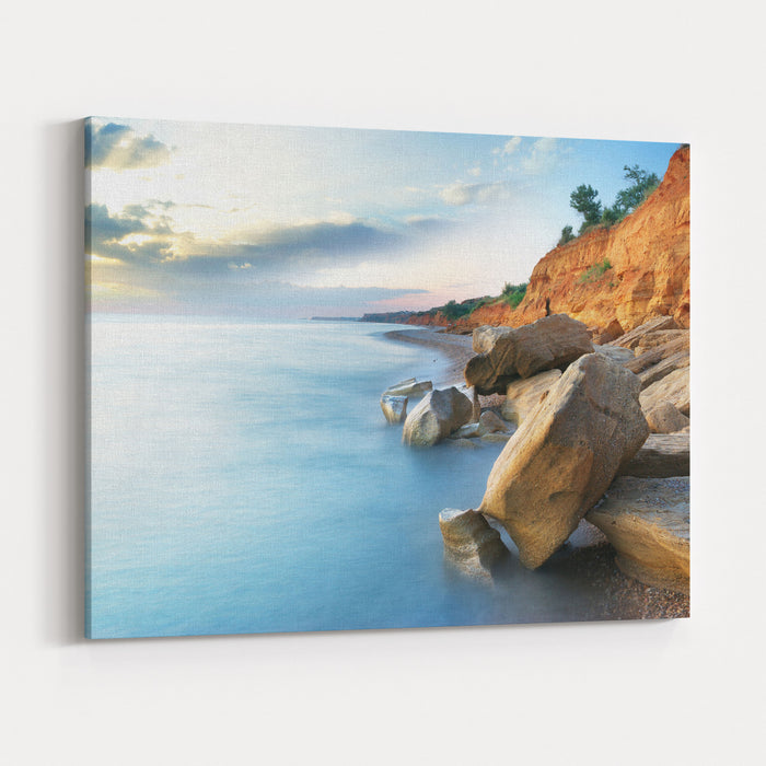 Beautiful Sea Landscape Composition Of Nature Canvas Wall Art Print