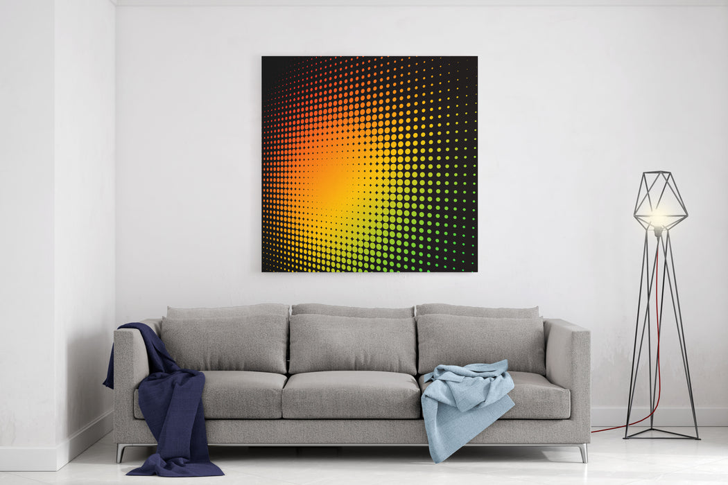 Abstract Colorful Halftone Background With Copy Space Canvas Wall Art Print