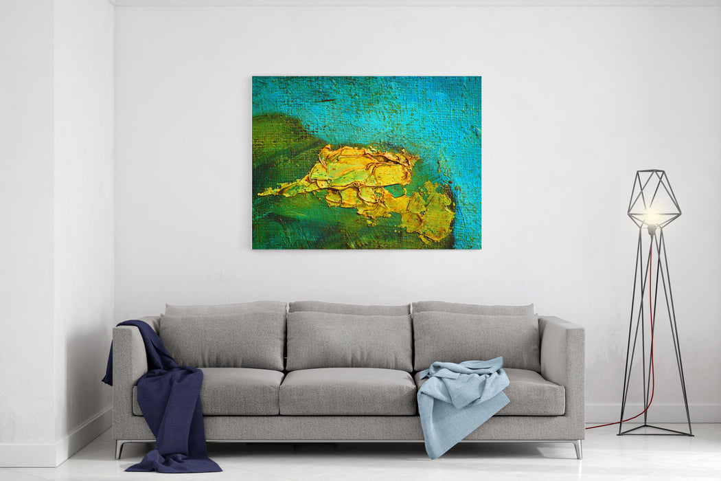 Modern Abstract Painting On Canvas Crude Oil With Texture, Landscape, Illustration Canvas Wall Art Print