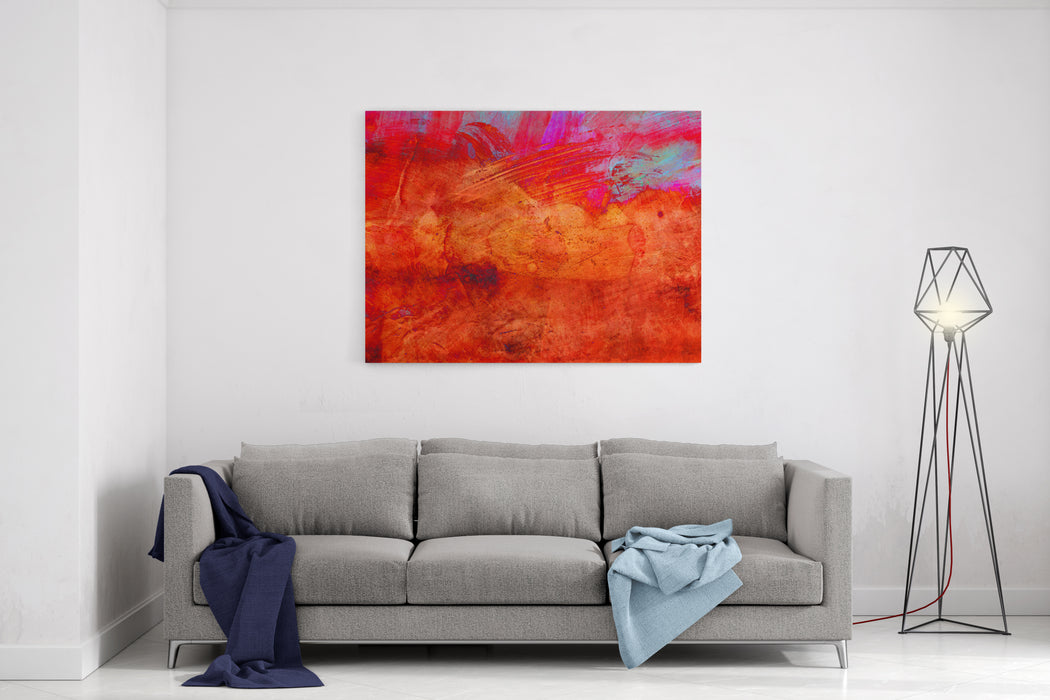 Abstract Grunge Paint  Handmade For Colorful Wallpaper Canvas Wall Art Print