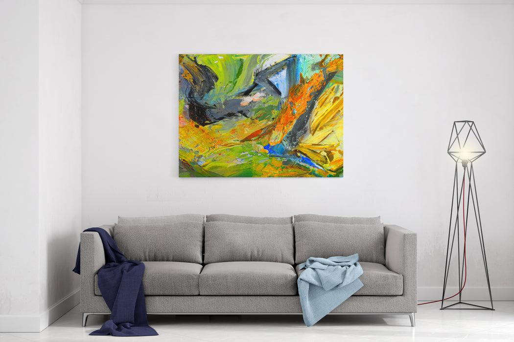 Nice Image Of An Original Oil Painting On Canvas Canvas Wall Art ...