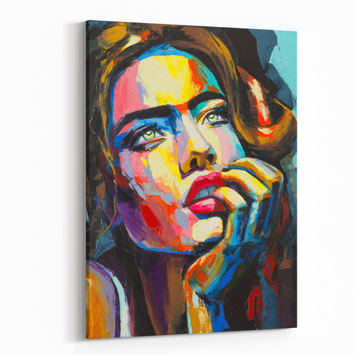 A Fantasy Woman Portrait From Colorful Emotions Series Oil Painting On Canvas Canvas Wall Art Print